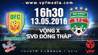 truc tiep dong thap vs bbinh duong - vleague 2016