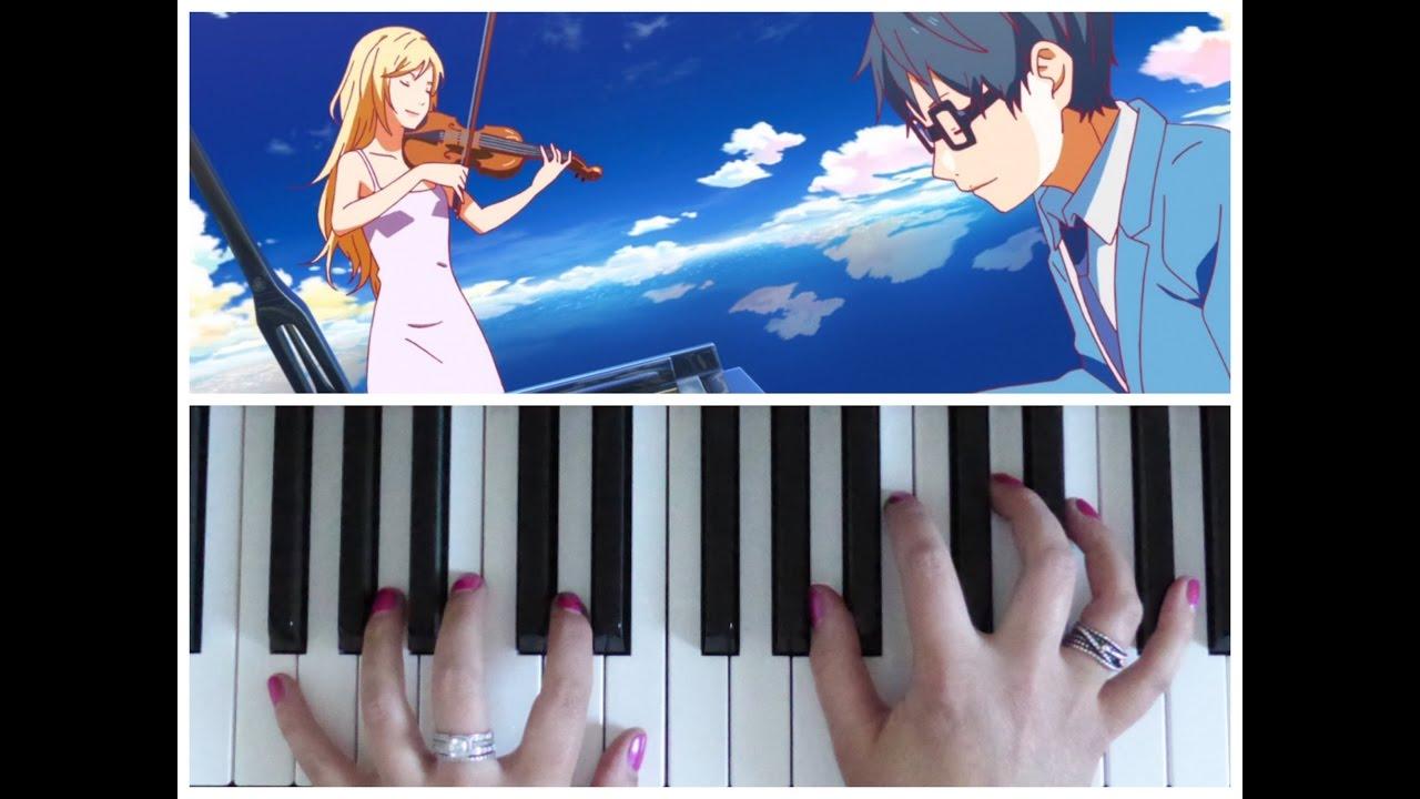 Your Lie In April Hikaru Nara Goose House Easy Piano Tutorial Youtube