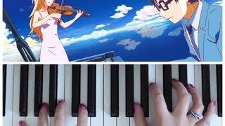YOUR LIE IN APRIL - Hikaru Nara (Goose House) | Easy PIANO Tutorial