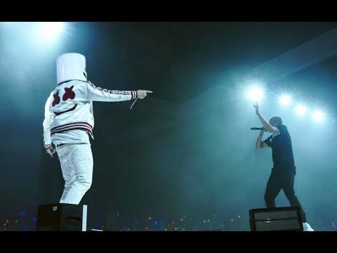 Marshmello brings out Logic during his set in LA