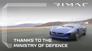 فيديو ريماك تختبر سياراتها على مدرج عسكري لوزارة الدفاع الكرواتية