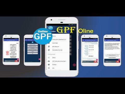 GPF Online Statement Download
