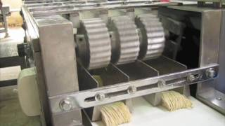 Repeat youtube video เครื่องทำบะหมี่ JTV & EXCELLENT cutter machine (noodle factory)
