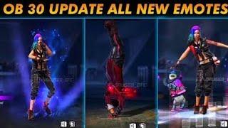 OB30 Update All New Emotes 🔥🔥 In Free Fire L B2 Pro Gamer