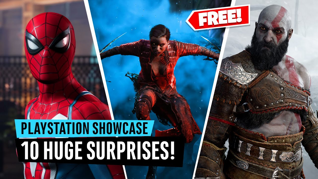 10 MASSIVE Surprises from the PlayStation Showcase (including 2 FREE games)
