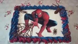 Como decorar bolo do homem aranha por confeitaria e cozinha sem decorao do bolo do homem aranha com bico 1m da wilton e 4b da wilton altavistaventures Image collections