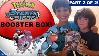 Pokemon XY Steam Siege Booster Box Opening - Part 2 of 2! Jenna Em Channel