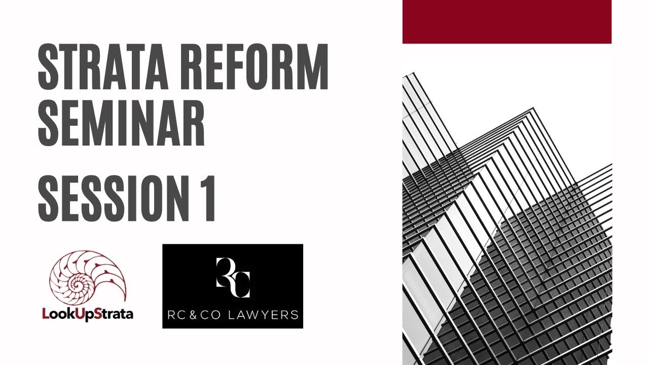Rochelle Castro speaks about the key changes to the Strata Titles Amendment Act 2018 (WA)