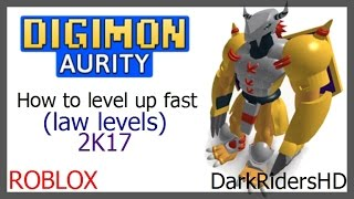 How to level up fast (low levels) / Digimon Aurity / Roblox 2K17