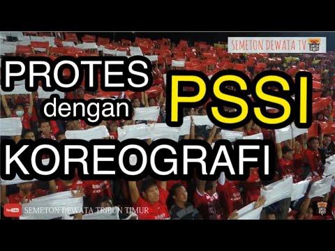 Wow!! Protes Suporter Bali United Dalam Bentuk Koreografi