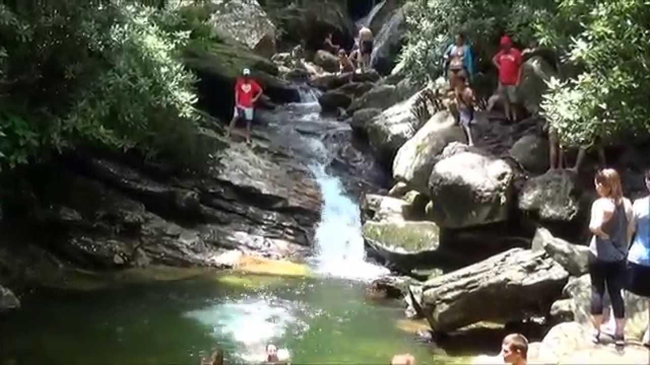 skinny dip falls blue ridge parkway   youtube