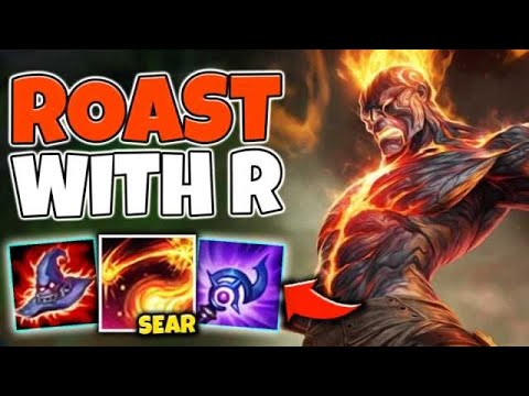 FULL AP BRAND CREATES A BARBEQUE WHEN HE ULTS! AOE MELT EVERYTHING! - League Of Legends