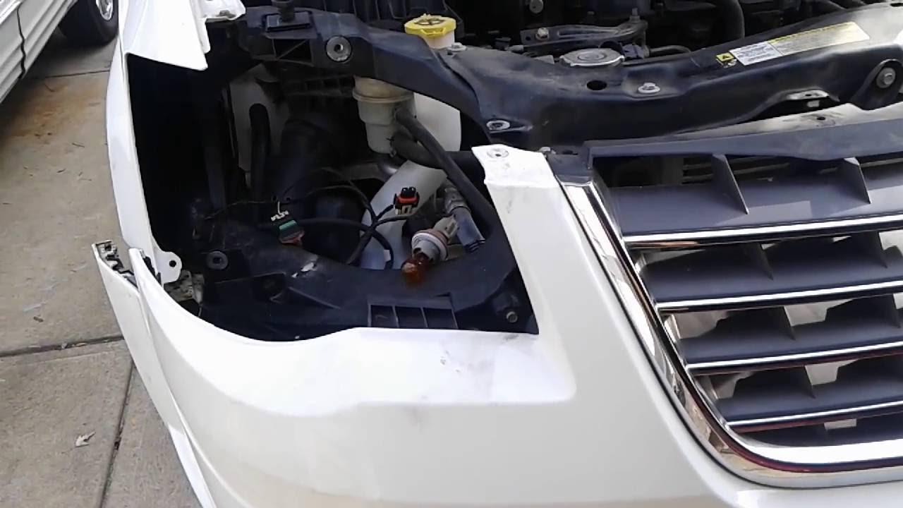 2010 Dodge Grand Caravan >> Town & Country / Caravan headlight removal part 2 - YouTube