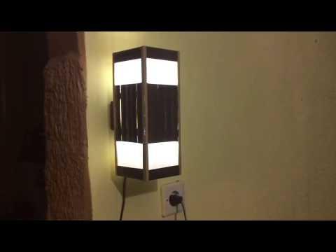 Cara Membuat Lampu Hias Dinding Model Kotak dari Bambu