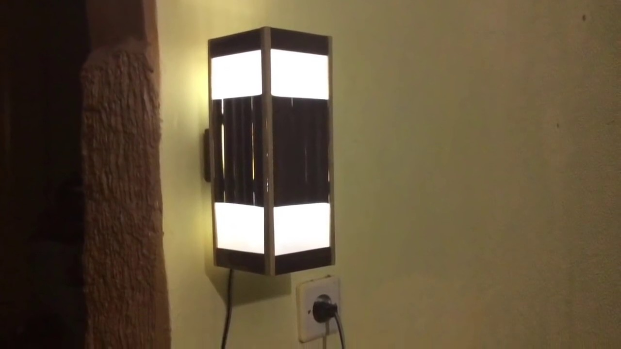 Cara Membuat Lampu Hias Dinding Model Kotak Dari Bambu Youtube Cara membuat lampu dinding