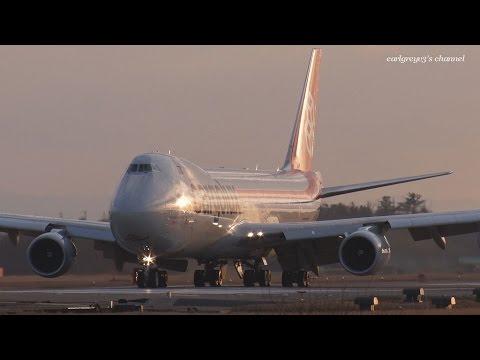 小松空港 Cargolux Airlines International (CV/CLX) Boeing 747-8F LX-VCB 2015.3.14