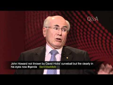 David Hicks asks John Howard a question on Q&A