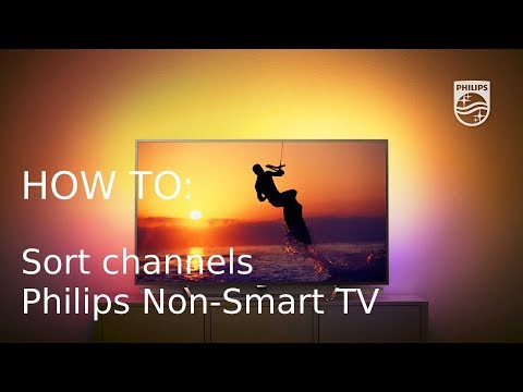 How to sort channels - Philips Non-Smart TV