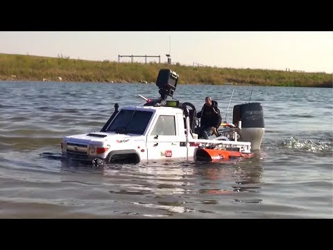 RC ADVENTURES - TOYBOTA PROJECT -TOP GEAR TRUCK BOAT TRiBUTE PT9