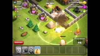 Clash Of Clans Attack Strategy: Giants+Wizards!!!