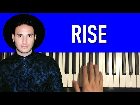 HOW TO PLAY - Jonas Blue - Rise (Piano Tutorial Lesson)