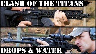 clash of the titans 3 vepr ak47 vs daniel defense ar15 concrete water