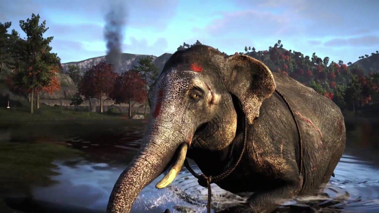 Far Cry 4 Wallpaper Elephant: Far Cry 4 Survive Kyrat Tiger/Elephant Trailer [1080p HD