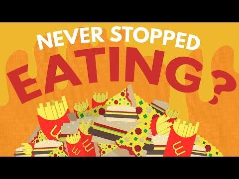 Co by se stalo, kdybyste nikdy nepřestali jíst?