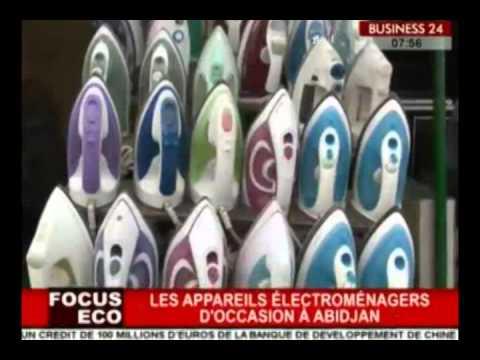 Business 24 / Focus Eco - Les appareils électroménagers d'occasion a Abidjan