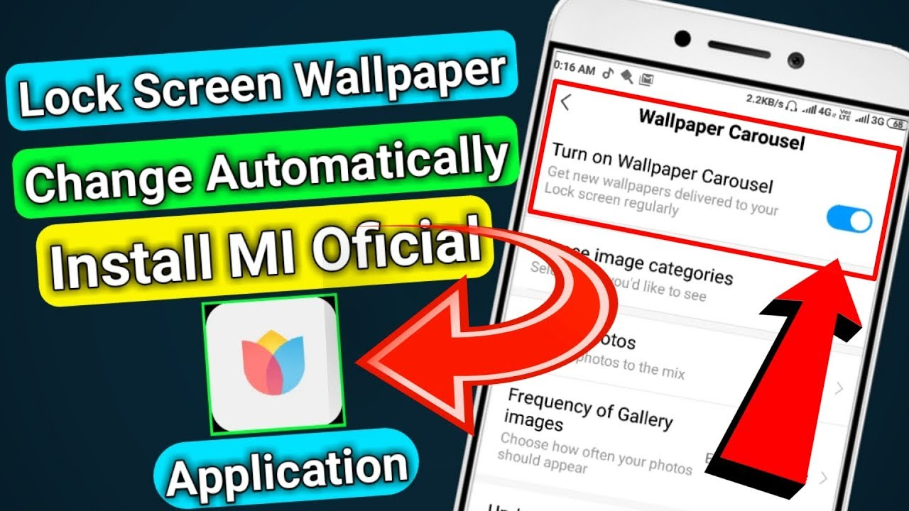 Lock Screen Wallpaper Auto Change Mi Wallpaper Carousel Application Install Redmi Lock Screen Youtube