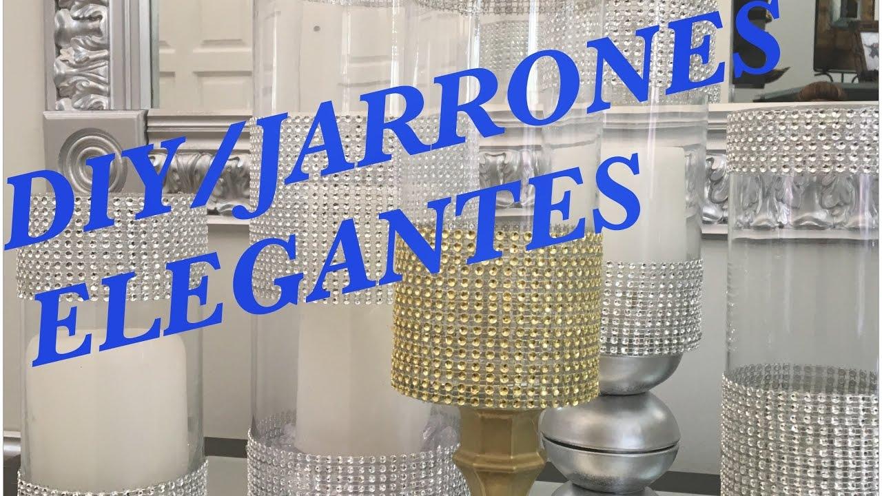 Diy Jarrones Economicos Y Elegantes Como Decorar Floreros