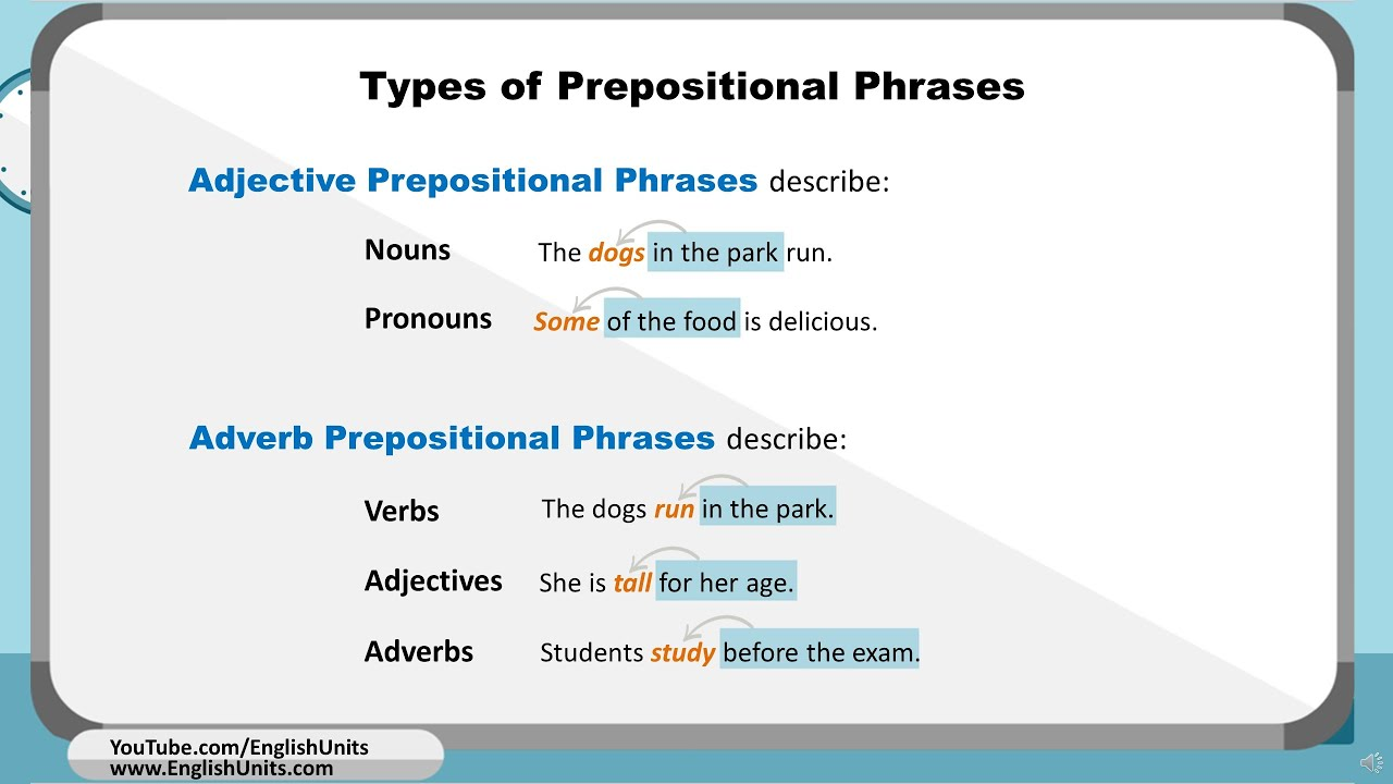 small resolution of Prepositional Phrases + Worksheet - YouTube