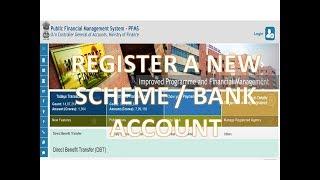Register a new scheme / Bank Account in PFMS