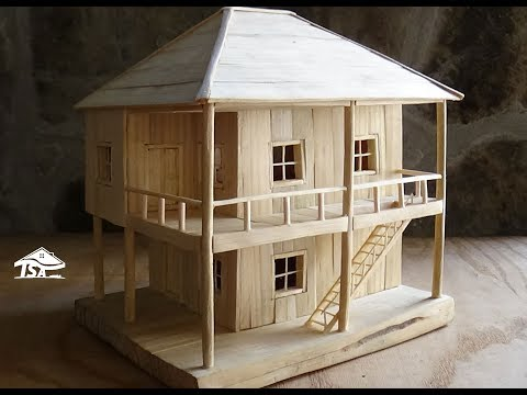 Thumbnail: How to make a wooden model house