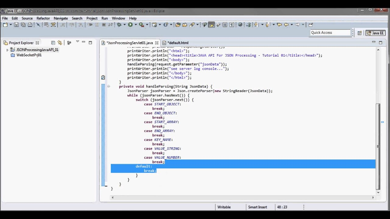 Java api for json processing tutorial 01 glassfish 40 jdk java api for json processing tutorial 01 glassfish 40 jdk 17 java servlet youtube baditri Images
