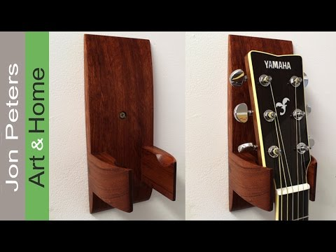 how to make and install a guitar hanger holder youtube. Black Bedroom Furniture Sets. Home Design Ideas