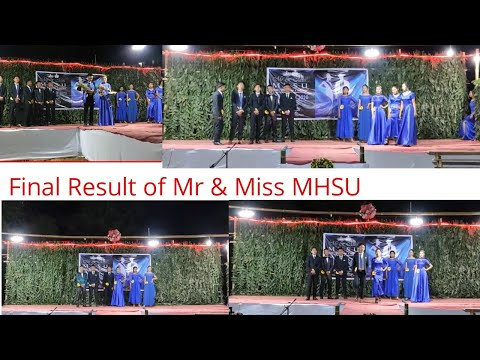 FASHION ROUND|MR & MISS MHSU CONTESTANTS 2020|ATO#INGKANGSHU