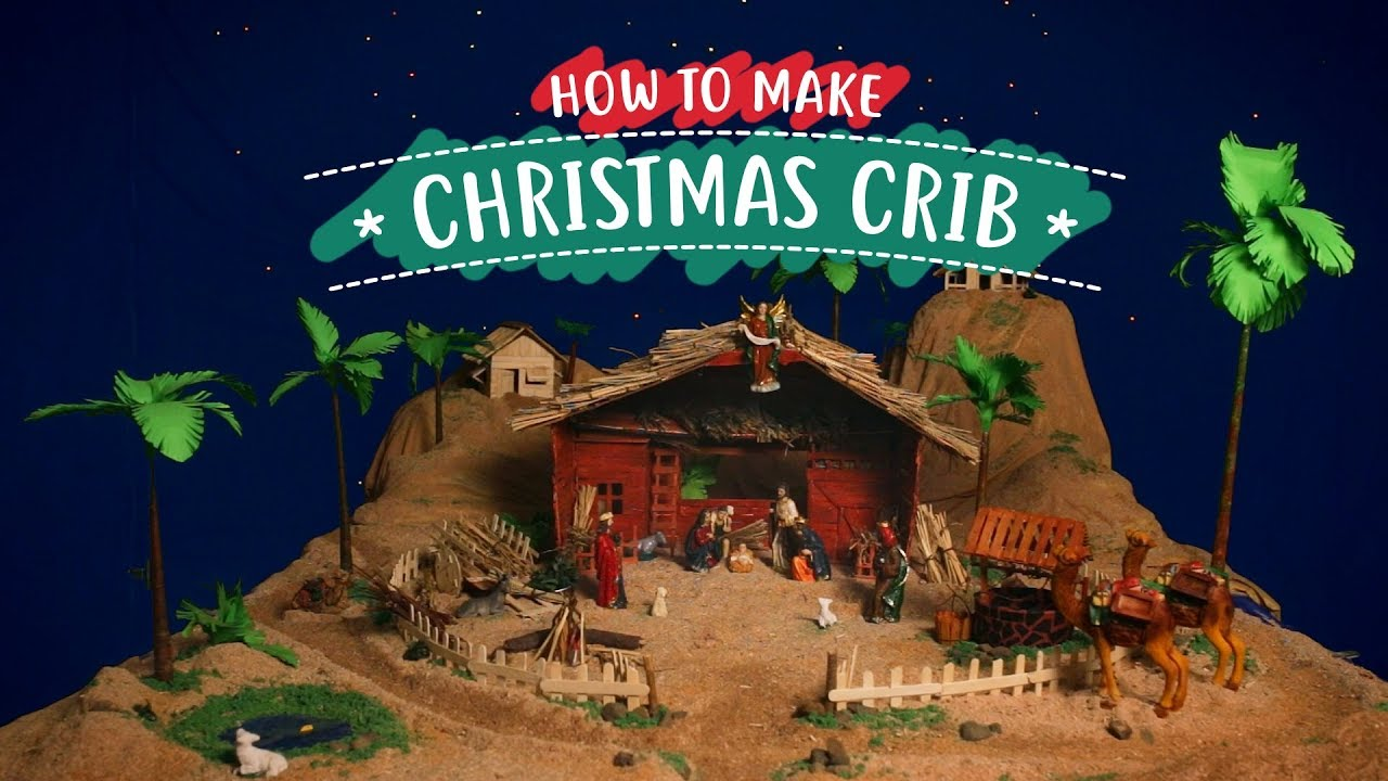 Christmas series how to make a christmas crib diy nativity christmas series how to make a christmas crib diy nativity scene solutioingenieria Choice Image