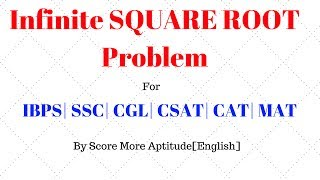 tricky infinite square root problem solving