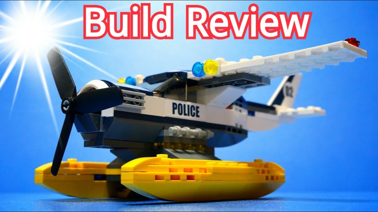 Lego Police 60070 Water Police Plane Chase - Build Review ...