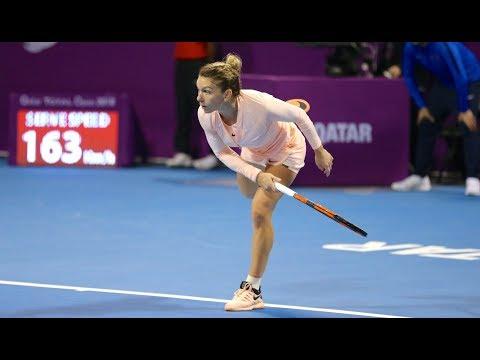 2018 Qatar Total Open Third Round | Simona Halep vs. Anastasija Sevastova | WTA Highlights