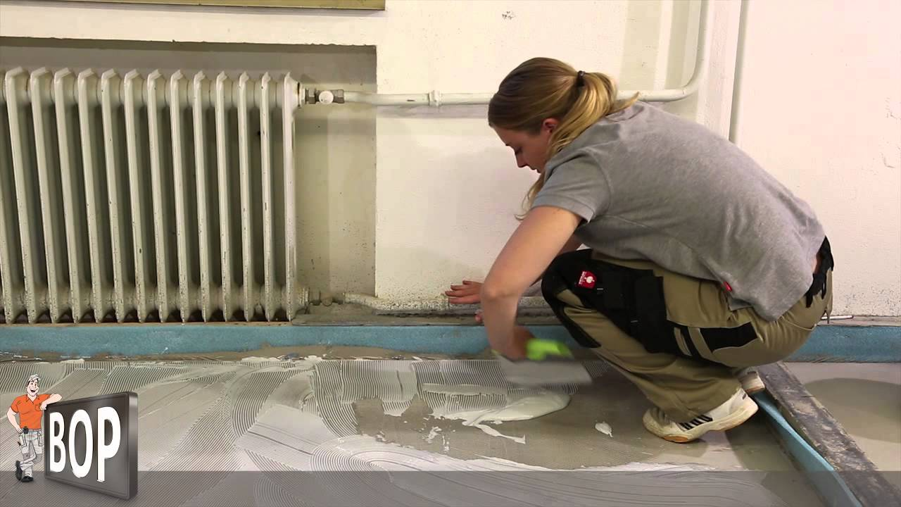 Linoleum verlegen  Linoleum verlegen und verkleben - So geht's! - YouTube