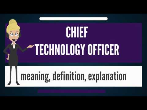 What is CHIEF TECHNOLOGY OFFICER? What does CHIEF TECHNOLOGY OFFICER mean?
