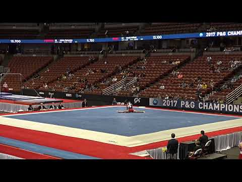 Jordan Williams - Floor Exercise - 2017 P&G Championships Junior Men Day 1