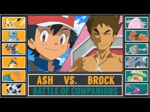 Ash vs. Brock (Pokémon Sun/Moon) - Battle of Companions