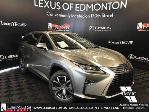 Silver 2018 Lexus RX 350L Luxury Package Walkaround Review Downtown Edmonton Alberta