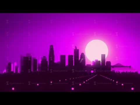Los Angeles Violet Purple USA America Skyline Sunrise Landing