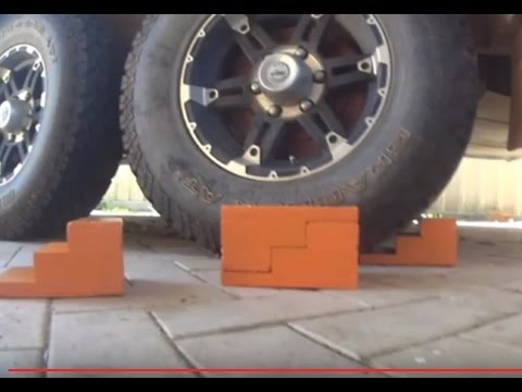 How to Make Caravan RV Wheel Chocks, Duel use as Blocks. for Camping Trailer. 4x4. DIY Camping Gear - YouTube