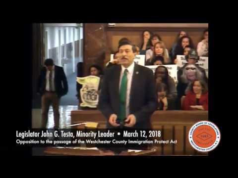 Legislator Testa Opposition to Westchester Immigrant Protection Act (IPA) 3/12/18