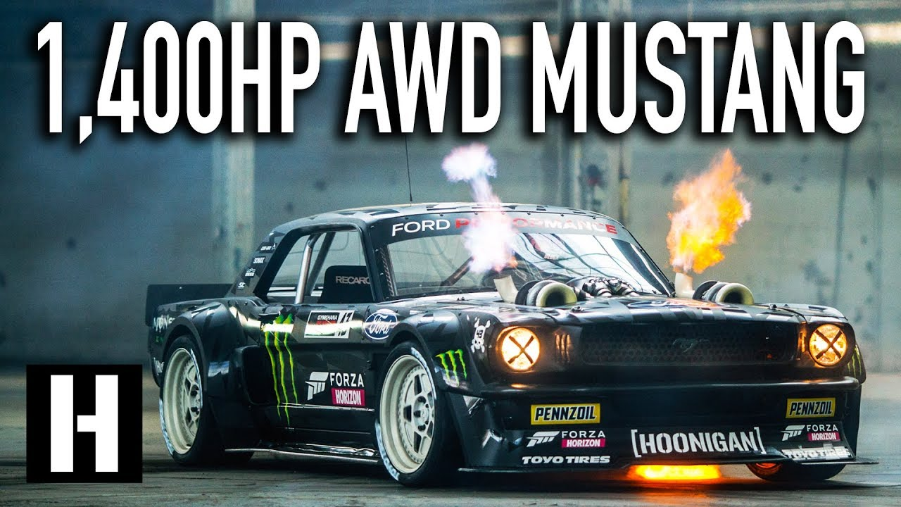 Ken blocks 1400hp awd ford mustang hoonicorn v2 straight from gymkhana ten